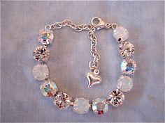 white Opal Bridesmaid Bracelet, Preciosa crystal bracelet - not sabika - 15 stone bracelet Bridesmaid Jewelry Sets, Bridesmaid Bracelet, Bridal Jewelry Sets, Wedding Jewelry, Stylish Jewelry, Cute Jewelry, Fashion Jewelry, Jewelry Art, Jewelry Gifts