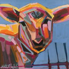 Pink Sheep by Kate Mullin ART. Painting