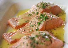Wild Sockeye Salmon with Lemon-Butter Sauce #copperriversalmon @lisaiscooking