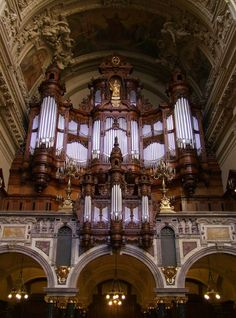 Category:Sauer organ in Berlin Cathedral — Wikimedia Commons Cathedral Architecture, Amazing Architecture, Pagoda Temple, Organ Music, Catholic Books, Pipe Dream, Cathedral Church, Wedding Music, Place Of Worship