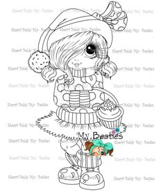 Colouring Pages, Coloring Books, Can Can T, Hannah Lynn, Types Of Craft, Christmas Paintings, Digi Stamps, Winter Wonderland, Besties