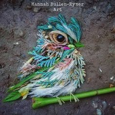 Artist Forages for Flowers and Leaves in Forest to Create Ephemeral Bird Portraits Land Art, Flower Petals, Flower Art, Flowers, Environmental Sculpture, Lights Artist, Illustrations, My Face Book, Something Beautiful