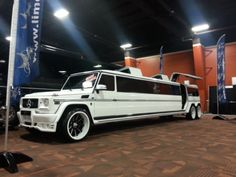 The Mercedes-Benz G 63 AMG is arguably the most bonkers civilian G-Wagen in history, and we bet that you would be struggling to find something even remotely in the same insanity ballpark as the six-wheeled monster. Limousine Interior, Limousine Car, Mercedes Benz Maybach, Benz Suv, Merc Benz, Mercedes G Class, Mercedes G Wagon, Mercedes Benz Germany, G 63 Amg