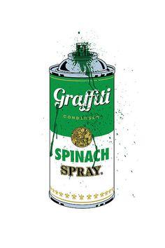 Spinach Graffiti Spray Paint