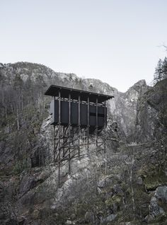 These images of the Peter Zumthor-designed Zinc Mine Museum were taken by Barcelona-based photographer Aldo Amoretti during a winter trip to southern Norway Hotel Canopy, Beach Canopy, Backyard Canopy, Garden Canopy, Diy Canopy, Fabric Canopy, Canopy Outdoor, Window Canopy, Canopy Curtains