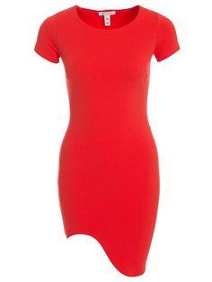 Curved Hem Mini Dress