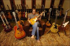 To 10 Unusual Collections by Celebrities - Keifer Sutherland collects Gibson Guitars