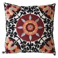 Throw pillow for black bed