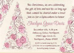bfbd058fab89 Pink Christmas Quinceañera Invitation - Holiday Gift 15th Birthday