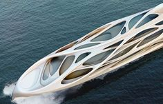 Here's another view of Zaha Hadid's superyacht design for German shipbuilders Blohm+Voss:   http://www.dezeen.com/2013/10/15/superyacht-by-zaha-hadid-for-blohmvoss/    For all the latest headlines and comment