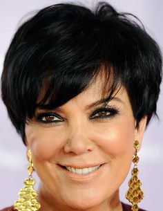 Kris Jenner Short cut with bangs - Short Hairstyles Lookbook - StyleBistro