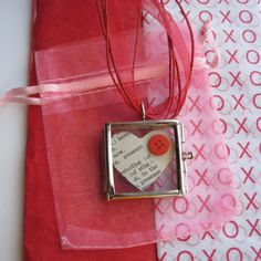 Jewelry VALENTINE ETSYXO  HEART Locket Sweet by LovesParisStudio, $15.00 might even buy this for myself!