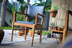 Two Teak Dining Chairs Teak Dining Chairs, Outdoor Chairs, Outdoor Furniture, Outdoor Decor, Accent Chairs, Flooring, Home Decor, Upholstered Chairs, Decoration Home