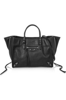Balenciaga Papier A6 textured-leather shoulder bag | NET-A-PORTER