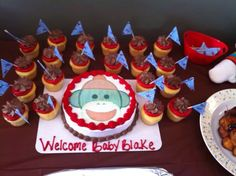 My sisters cake (Sock Monkey)