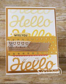 Miss You card, Hello card,  Vertical Garden stamp set, DIY Spring Decor kit,  Stampin' Up!