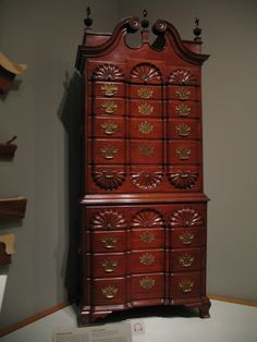 Winterthur Delaware, Providence 9-shell mahogany chest-on-chest, 1775-1790....Today, Winterthur is the premier museum of American decorative arts, with a nearly 90,000 objects made or used in America between about 1640 and 1860.