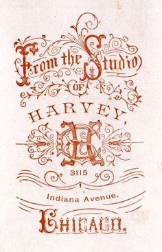 The Flip Side of Cabinet Cards    @hautecards: BEautiful Vintage Fonts fro sign and card design, font inspiration ornamental lettering stamp