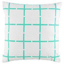 Target Mint Grid Printed Cushion - 45cm $15