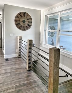 20 Uplifting Rustic Staircase Designs That You Can't Dislikeopen stairs, metal blended with wood, and the window wall.Spring Home Tour – Part 1 Farmhouse Entryway Basement Stairs Open Staircase Ra.Spring Home Tour – Part 1 Interior Stair Railing, Stair Railing Design, Staircase Railings, Bannister, Stair Case Railing Ideas, Stairway Railing Ideas, Loft Railing, Open Basement Stairs, Open Stairs