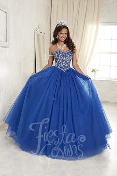 Tulle ball gown with beading detail on the strapless sweetheart neckline and bodice. Download the Fiesta Gowns by House of Wu sizing chart here. *Note lead times for dresses will vary. All items are s