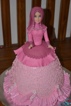 Barbie doll cake (all covered)