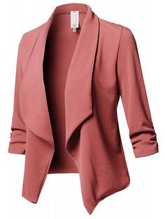 HOT factory Lapel neck Long sleeves Pocket  Button Panelled Split red Jacket