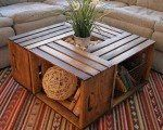How to Make a Coffee Table from Wine Crates As we all know, a new coffee table is quite expensive, so today will show a solution that with a little skill and creativity you can do it yourself.  http://www.goodshomedesign.com/coffee-table-wine-crates/