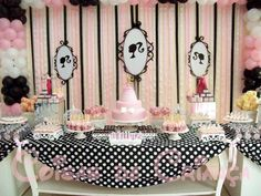 barbie party setting