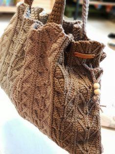 코바늘가방- 가을가득 담은 코바늘가방/ 브라운빅백 : 네이버 블로그 Filet Crochet, Purses And Bags, Free Pattern, Reusable Tote Bags, Knitting, Clothes, Recycled Clothing, Fashion, Knitting And Crocheting