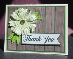 Daisy Thank You Sneak Peek by Broom - Cards and Paper Crafts at Splitcoaststampers