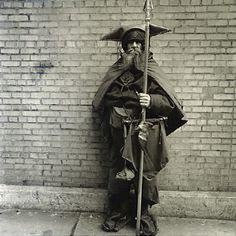 Diane Arbus - Moondog at his regular post, NYC, 1963.