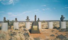Busts of Afrikaner heroes in Orania