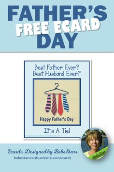 Best father ever? Best husband ever? It's a tie! Tell him with a special ecard for Father's Day. They are free to send and fun to receive. | Ecard | Father's Day | From Wife | bebestarrcards.wixsite.com/ecards Fathers Day Ecards, Happy Fathers Day, My Father, Best Husband, Good Good Father, Tie, Design, Happy Valentines Day Dad, Cravat Tie