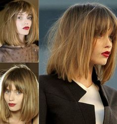Short Hairstyles for Winter: Long Bob for Fine Hair Sleek and stunning are the main feature of the short hairstyle. The