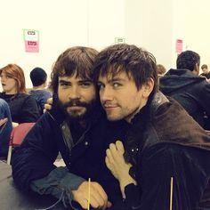 Reign - Behind the Scenes with Nostradamus (Rossif Sutherland) and Bash (Torrance Coombs)