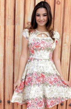 1150 -Vestido c/ cinto - Floratta Modas