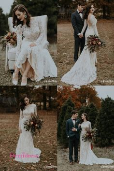 Sheath Lace Wedding Dress Long Sleeve Cheap Ivory Wedding Dress # VB4239 #demidress #wedding #weddingdress #weddingdresses #lace #laceweddingdress #mermaid #longsleeveweddingdress #custom #customweddingdress #2020weddingdress #beachwedding #ivory