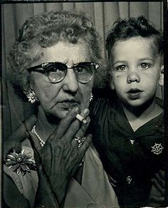 grandmom and kid