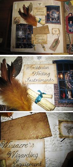 Scribbulus Writing instruments and Wiseacre wizarding equipment Harry Potter scrapbook