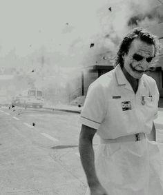 "Heath Ledger as The Joker in The Dark Knight Christopher Nolan …"" Joker Heath, Joker Batman, Der Joker, Joker Art, Joker Nurse, Heath Leadger, Superman, Joker Dark Knight, The Dark Knight Trilogy"