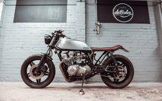 The MK2 is a 1981 Honda CB750 DOHC Brat Style by DeBolex #motorcycles #bratstyle Nice tyres!