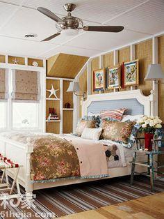 Great wall idea for attic or cabin, etc.