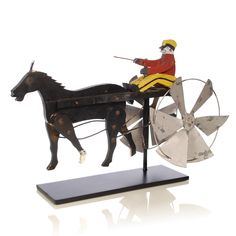 americana folk art running horse | Folk Art Whirligig of a Driver and Trotting Horse « Griffin Trading ...