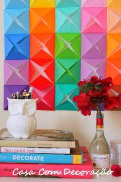 Design e Decoração- Blog de Decoração: 5 Ideias fáceis de fazer e baratas para decorar paredes