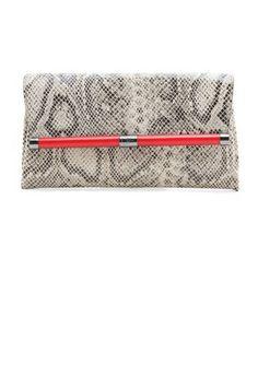 The Envelope Clutch Diane von Furstenberg 440 Envelope Python Clutch