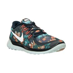 Women's Nike Free 5.0 Photosynthesis Running Shoes ($110) ❤ liked on Polyvore featuring shoes, athletic shoes, evening bridal shoes, womens athletic shoes, special occasion shoes, floral shoes and slim shoes