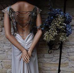 CUSTOM GREAT GATSBY Style Wedding Dress Beige Velvet by Arabescque, $999.99
