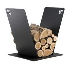 Indoor deesigner fireplace log holder PVV made of steel,made in Italy Wood Holder For Fireplace, Fireplace Logs, Modern Fireplace, Fireplaces, Firewood Holder, Firewood Storage, Wood Design, Modern Design, Container Coffee Shop