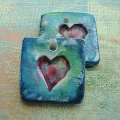 heart charms by BARBARA BECHTEL